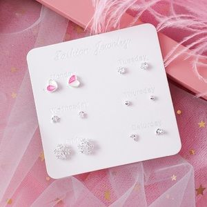 4 set earrings